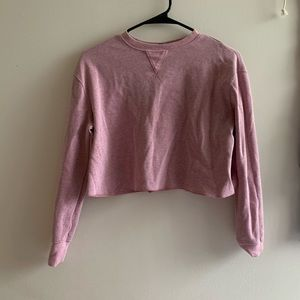 WILD FABLE Mauve Pink Cropped Thermal Long Sleeve